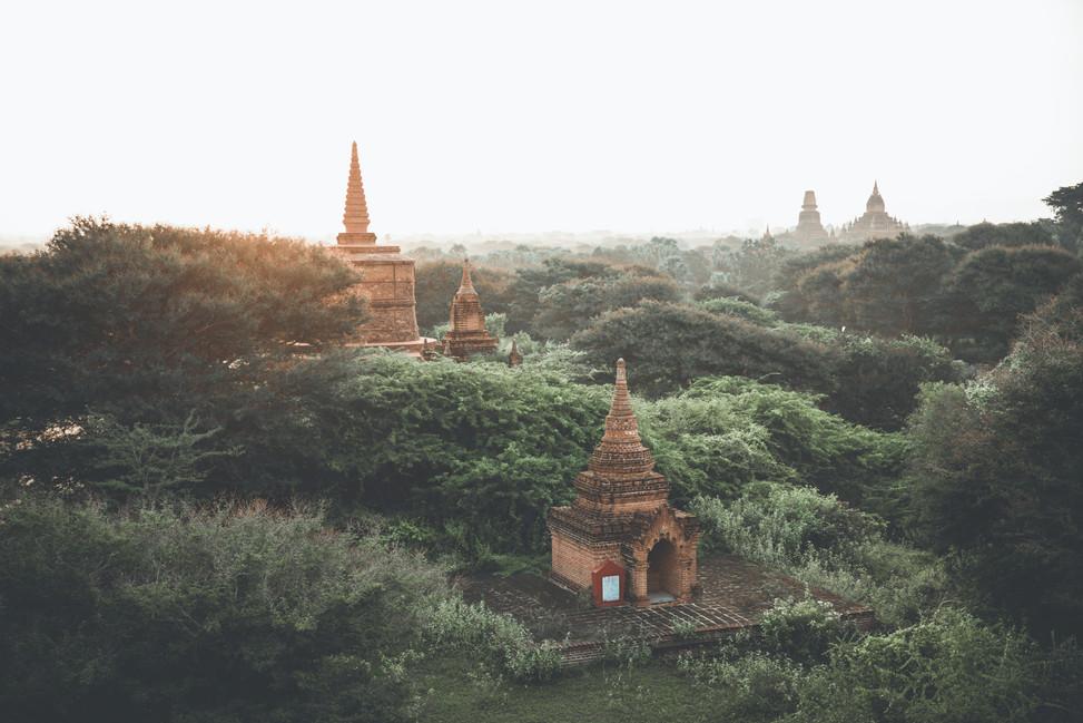 Sunrise in Bagan, Myanamar