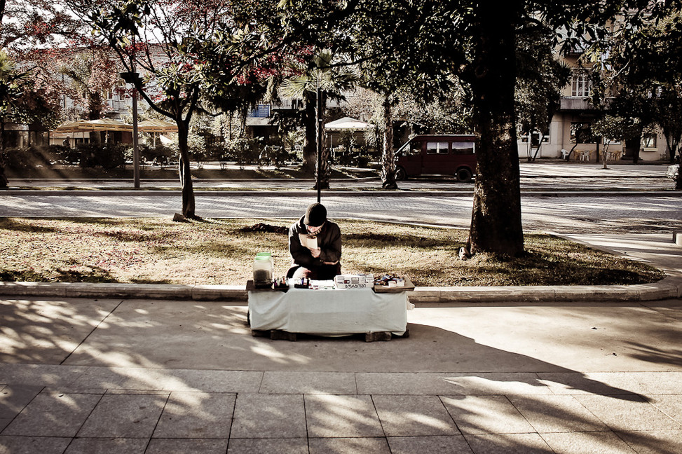 Street seller in Batumi