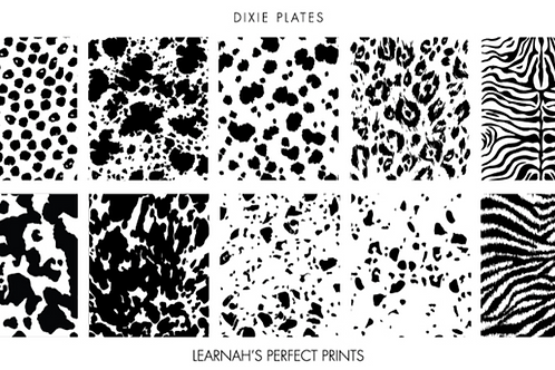 Dixie Plates Learnah's Perfect Prints Mini Plate