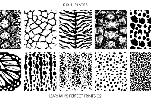Dixie Plates Learnah's Perfect Prints 02 Mini Plate