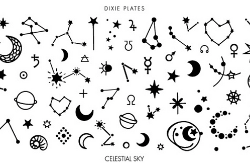 Dixie Plates Celestial Sky Mini Plate