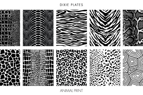 Dixie Plates Animal Print Mini Plate