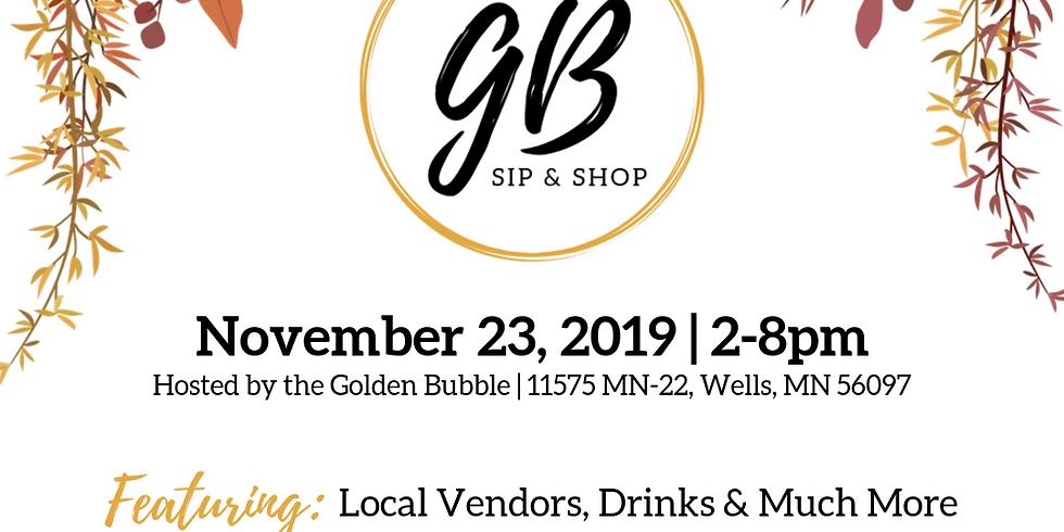 Golden Bubble Sip & Shop