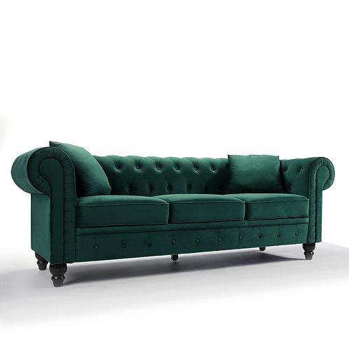 Chesterfield Velvet Green