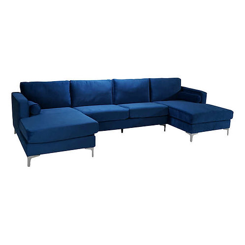 U Sectional Blue