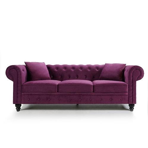Chesterfield Velvet Purple