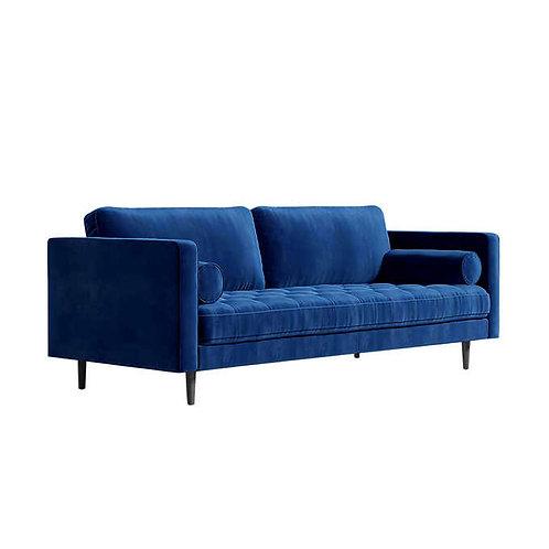 Velvet Sofa Blue