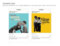 Good & Plenty Animated Social AdsSocial