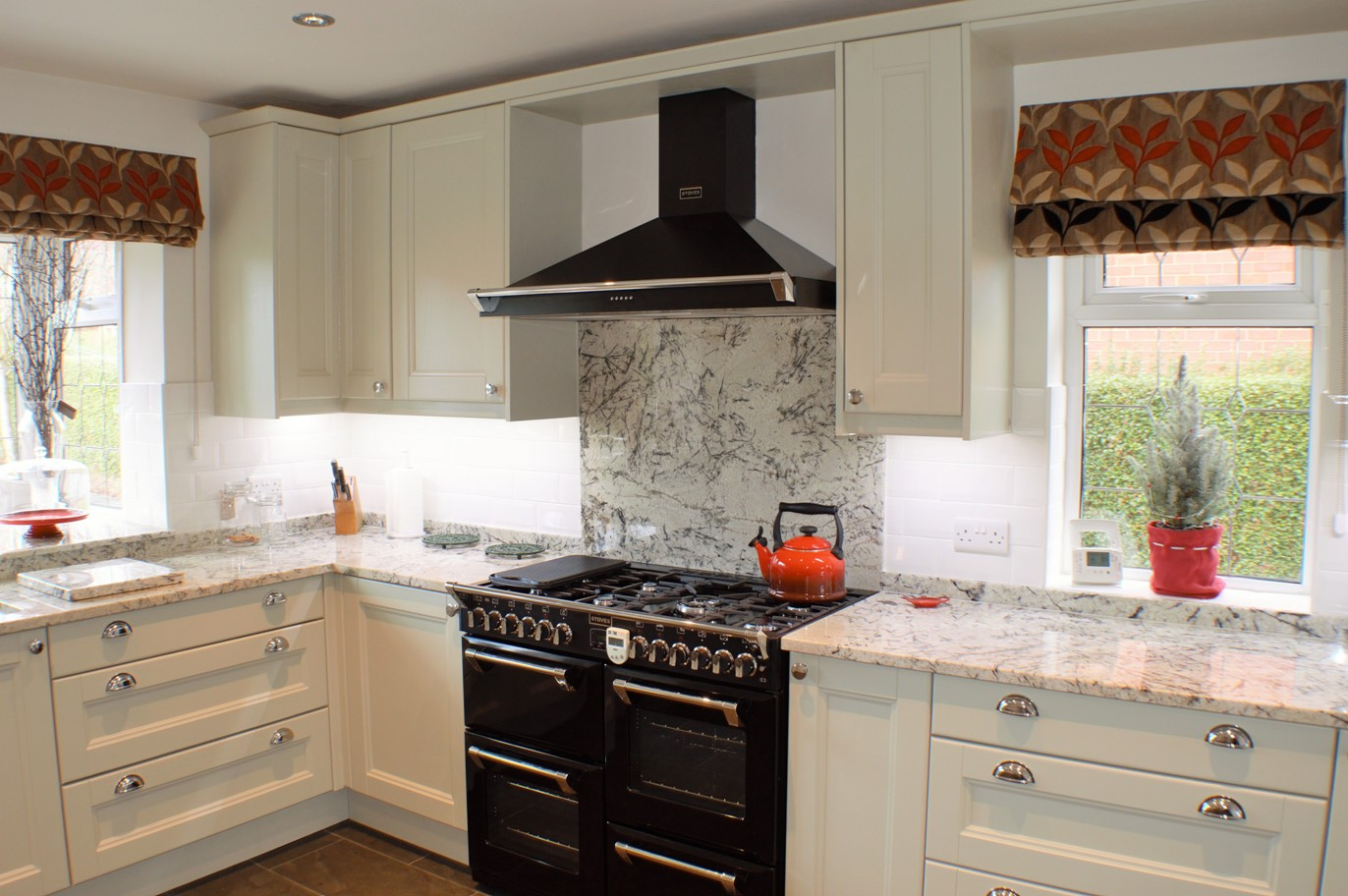 Painted Ash Kitchen with Granite
