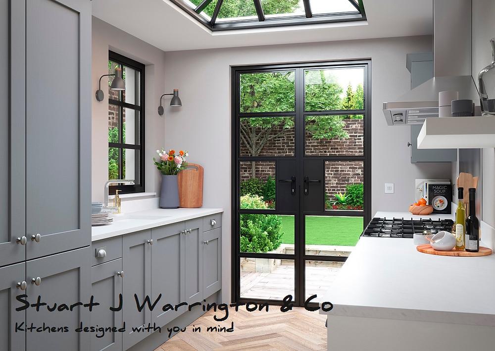 Small shaker kitchen design