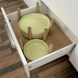 Plate stack drawer inserts