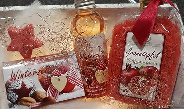 Granatapfel schön verpackt