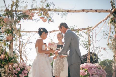Wedding ceremony at Les Crayères