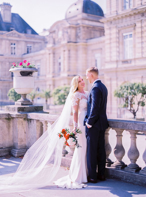 Wedding ceremony in Luxembourg Gardens