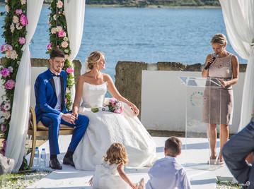 Wedding along Douro river in Porto