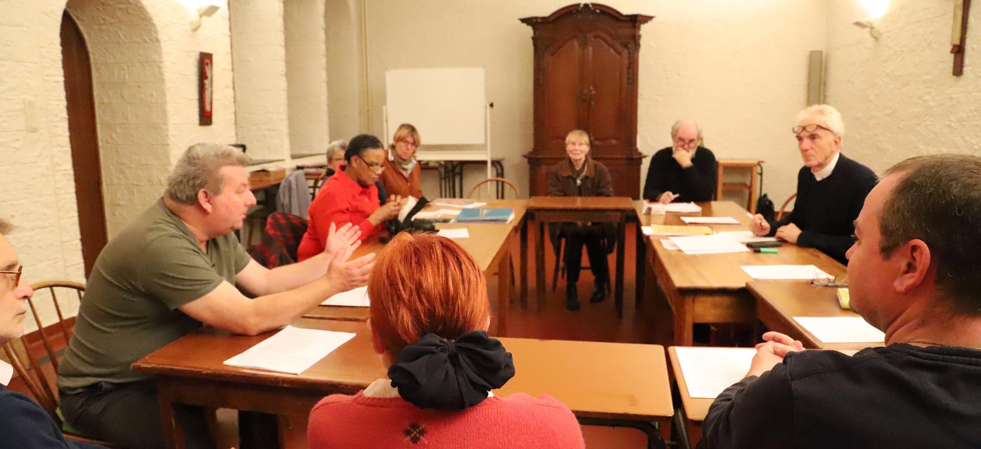 Rencontre au monastère ND d'Hurtebise en Belgique (2)