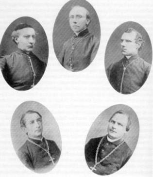 Déclaration d'Utrecht (1889). Les 5 évêques vieux-catholiques signataires