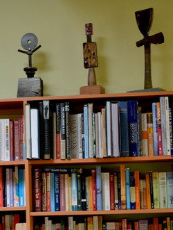 Above the bookcase