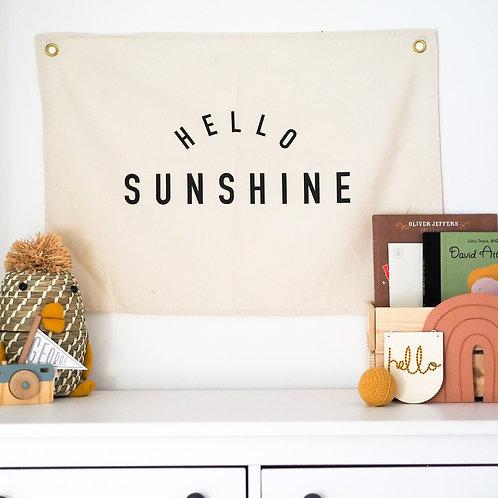 'HELLO SUNSHINE' WALL FLAG