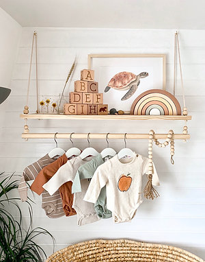 SWING SHELF WITH CLOTHES RAIL