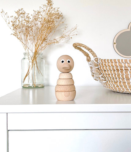WOODEN STACKING DUCK