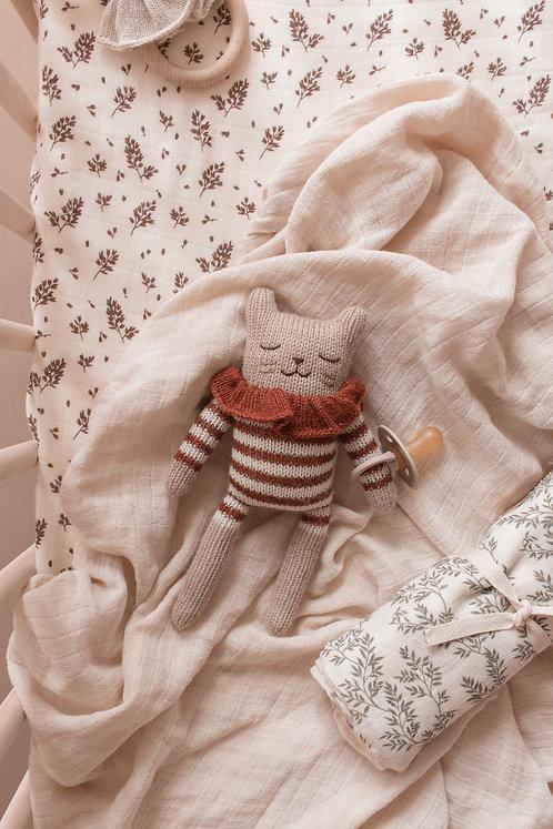 Main Sauvage Kitten Knit Toy - Sienna Striped Bodysuit