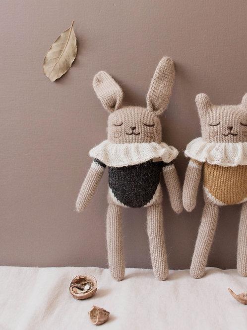 Main Sauvage Bunny Knit Toy - Black Bodysuit