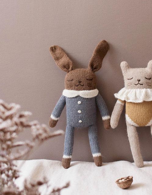 Main Sauvage Bunny Knit Toy - Slate Jumpsuit