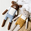 Thumbnail: Main Sauvage Large Teddy Knit Toy - Mustard Overalls