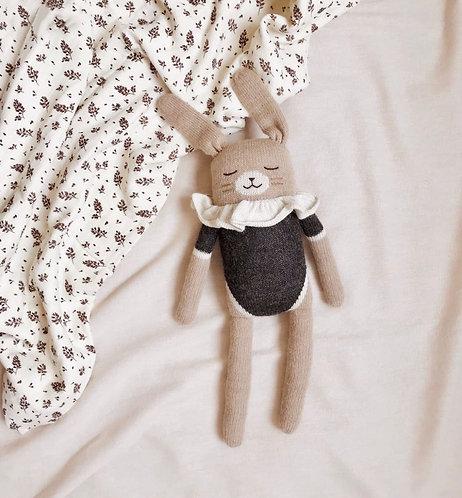 Main Sauvage Large Bunny Knit Toy - Black Bodysuit