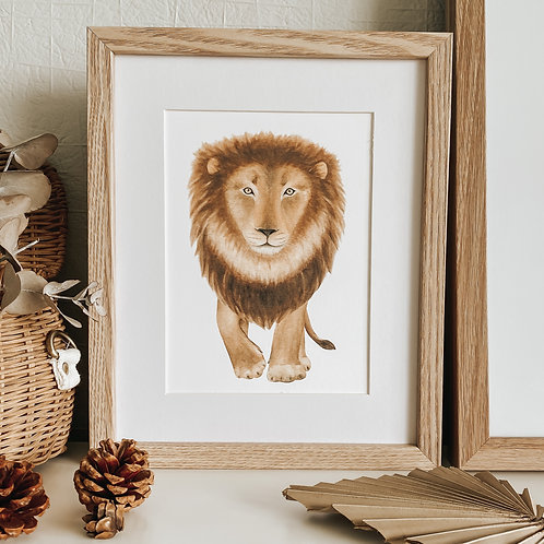 LEROY LION PRINT A4