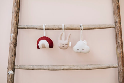 Main Sauvage Bunny Hanging Toy