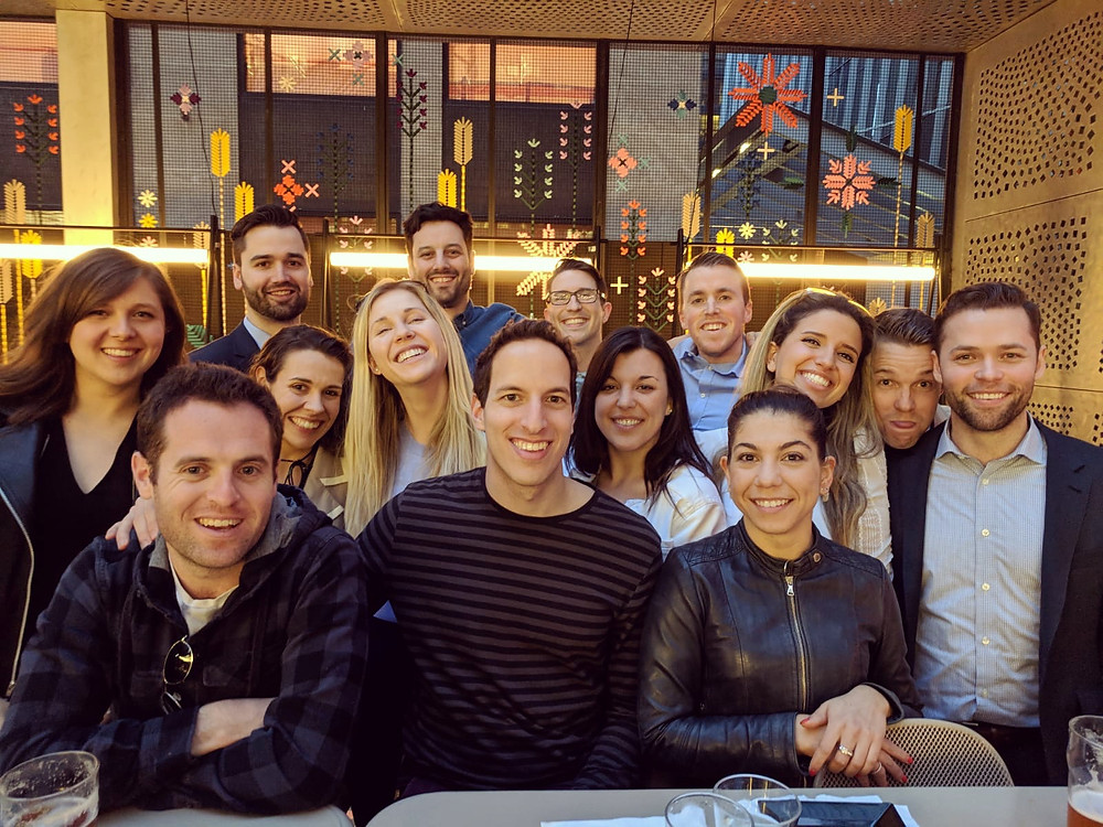 Articling Students 2017-18 at the Assembly Chefs Hall patio.