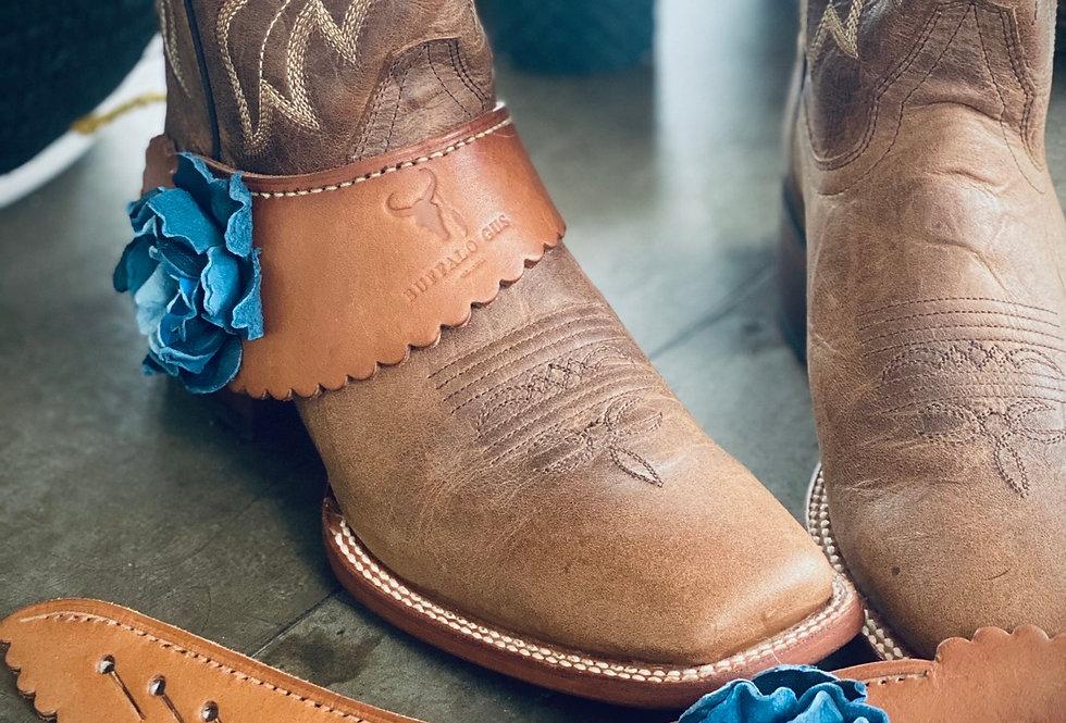 CopAustralian Leather Spur Straps