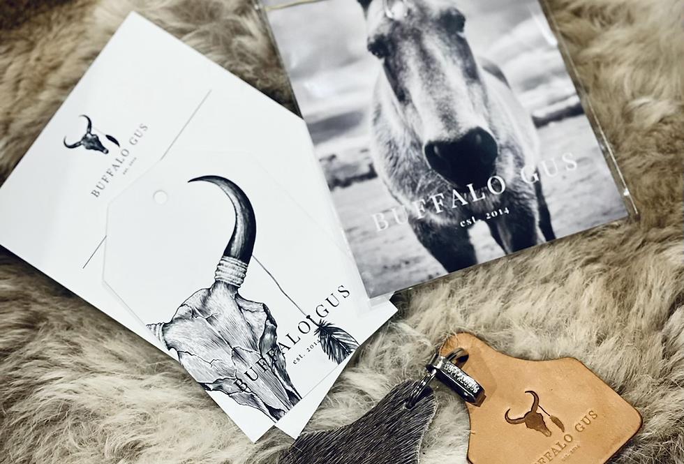 Cow Hide Key Ring gift set