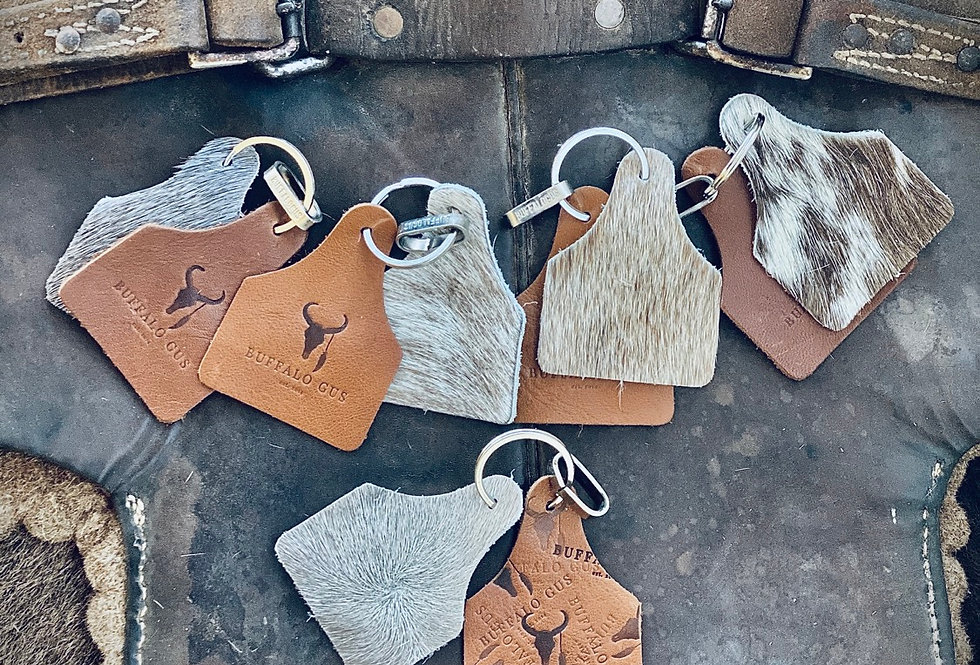 Cow Hide Key Rings