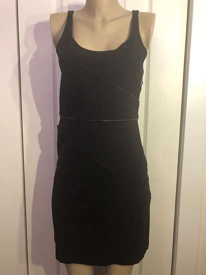 Theory Black Zipper Dress