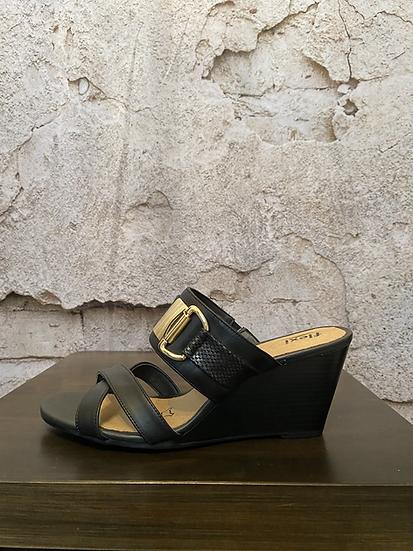 Flexi Black Wedge Sandal NEW