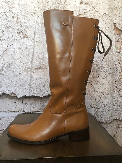 Paco Valiente Tan Leather Boots NEW