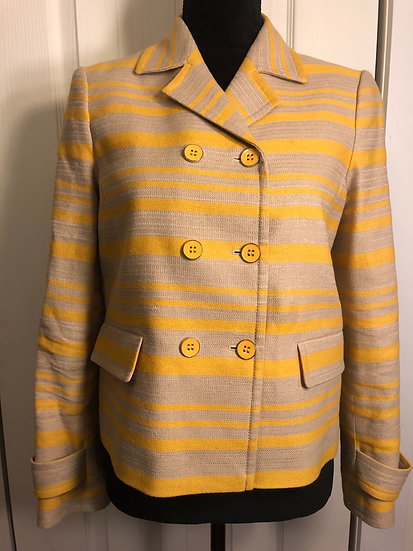 Talbots Yellow & Taupe Blazer