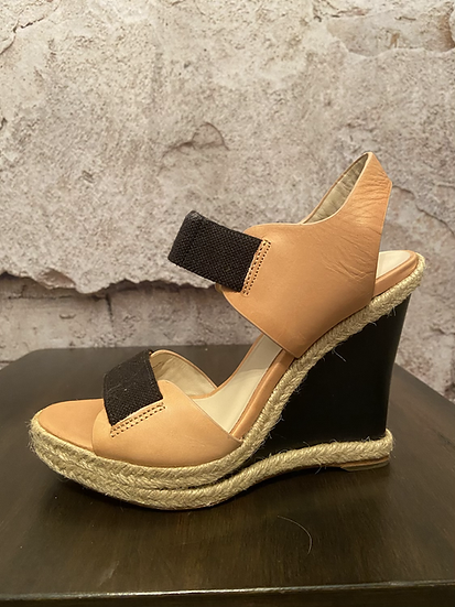 Michael Kors Wedge Almond Leather Sandals