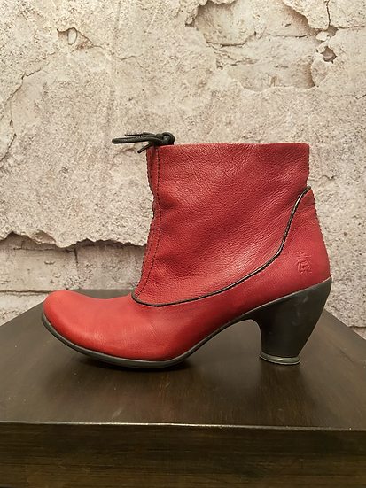 Fly London Cherry Red Leather Boots