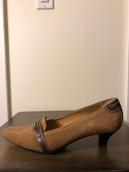 Franco Sarto 2 Tone Suede Shoes