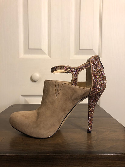 Enzo Angiolini Sparkle Suede Shoes NEW