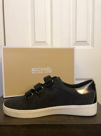 Michael Kors Charcoal Flannel Sneaker NEW