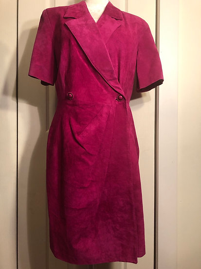 Bagatelle Suede Fuchsia Dress