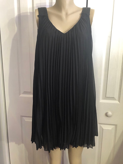 Nine West Black Accordion Dress