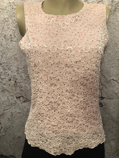Brittany Black Shell Pink Sparkle Tank (petite)
