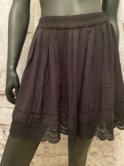 Aeropostal Rayon Flirty Lace Bottom Skirt