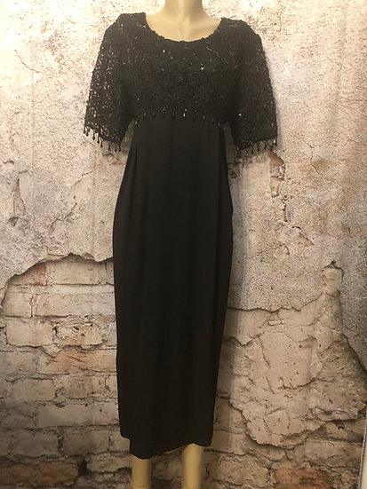 Wilma B 🇨🇦 Black Sequin Designer Gown